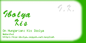 ibolya kis business card